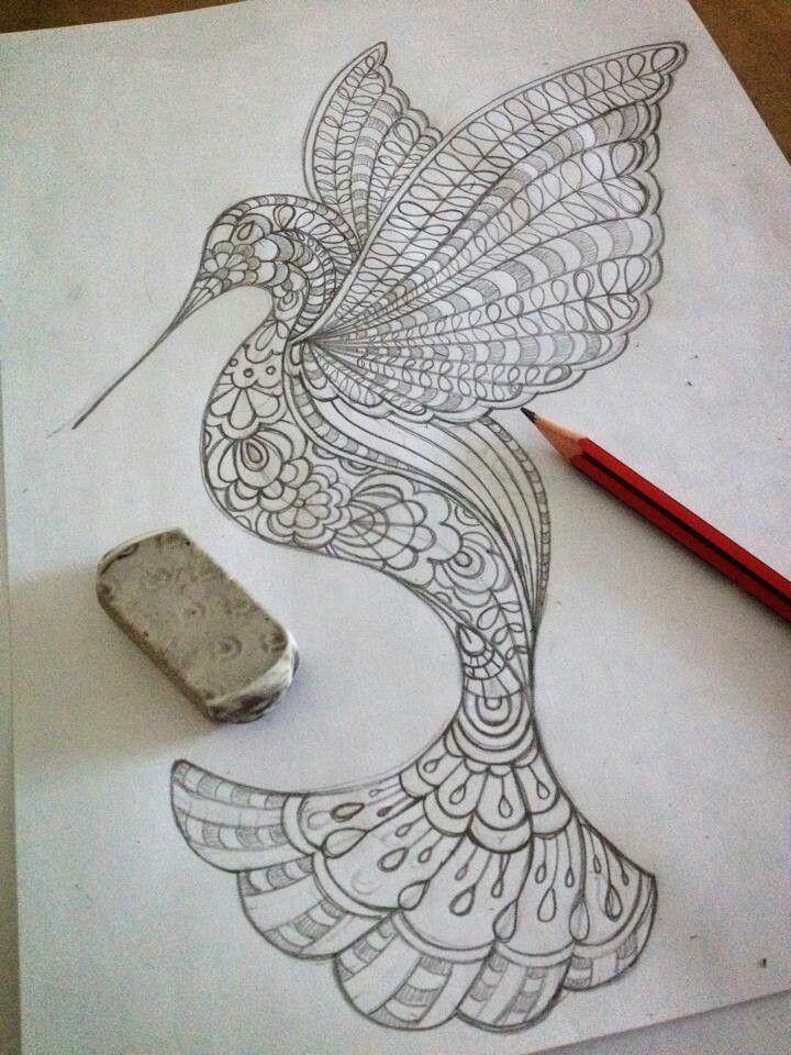 Humming Bird Zentangle Pinterest Birds