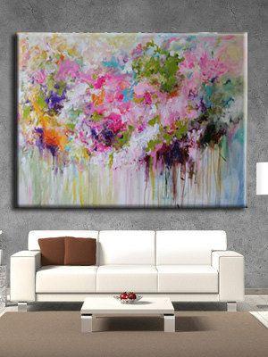ORIGINAL abstract painting Abstract flowerabstract por artbyoak1
