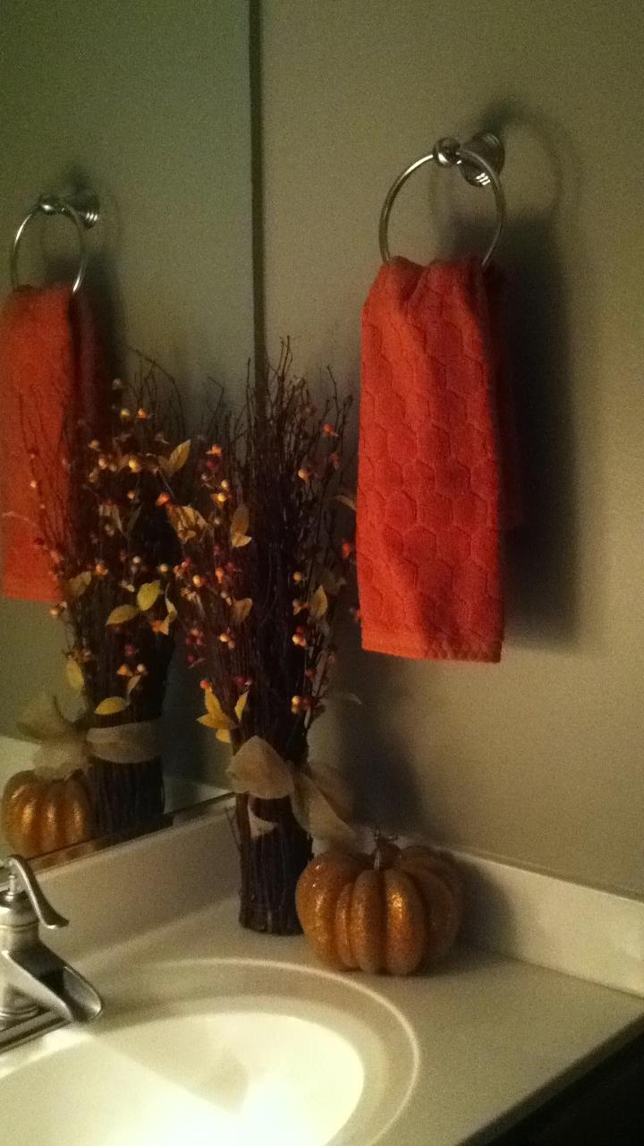 Bathroom Fall Decorations Decor Fall Pinterest The