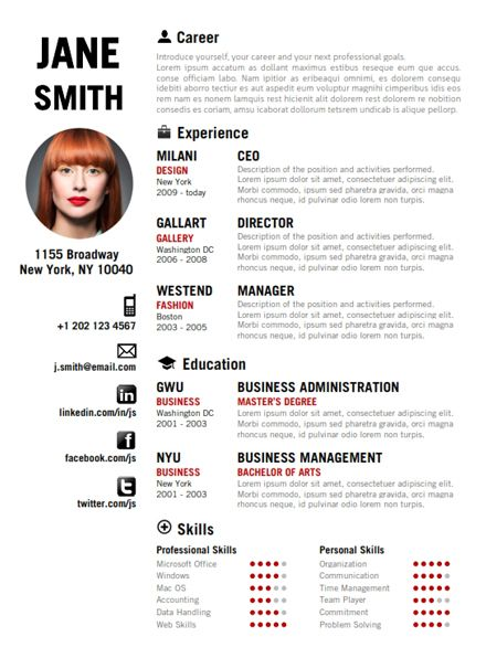 1000 ideas about cv english on pinterest resume templates
