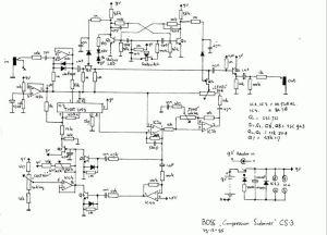Boss CS3Compressor Schematic   schem diy stompbox