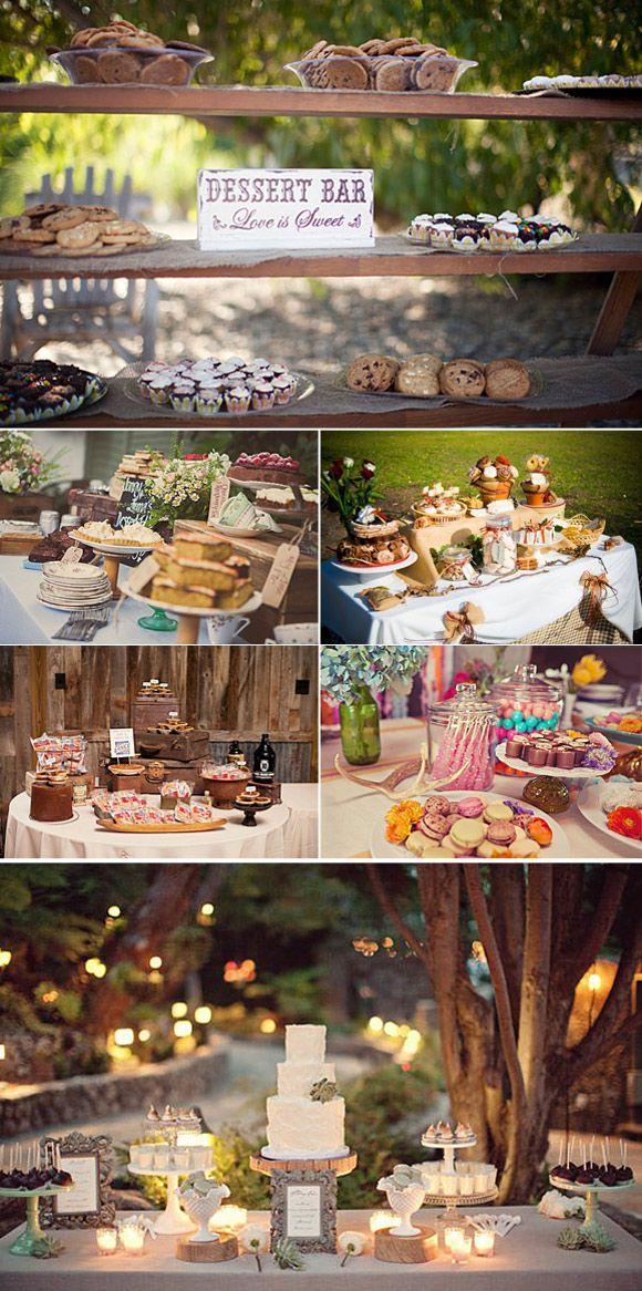 Mesas de postre rústicas: Si estáis planeando hacer una mesa de postres original y vuestra boda es en una finca o en el campo el post de hoy os encantará!: