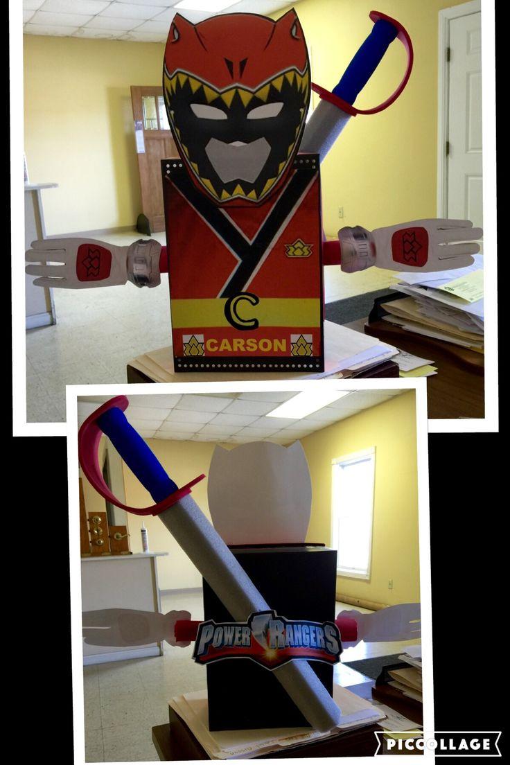 Power Ranger Valentines Day Box Kid Stuff Pinterest