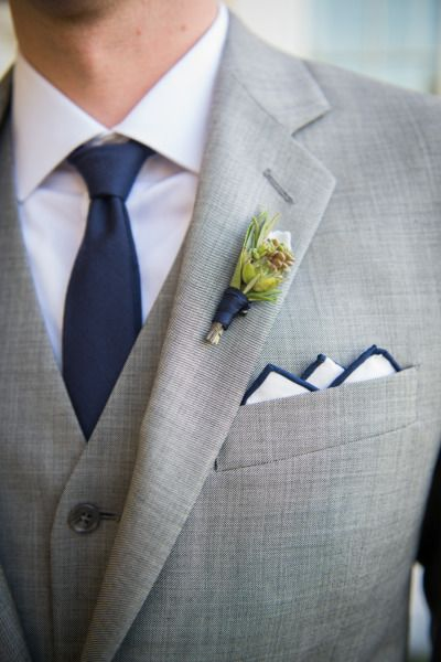 Nautical Ocean House Wedding Groom Style Grey And Suits