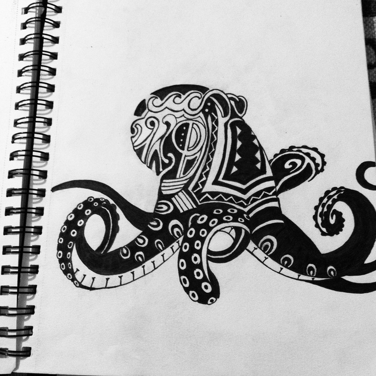 Octopus Drawing Ideas To Draw Pinterest Octopus