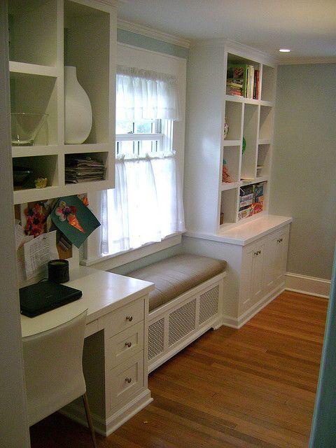Window Seat Kitchen Desk Window Seat And Boocase