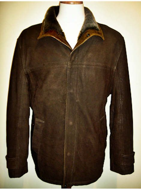 Lone Pine Tahoe Leather Shearling Jacket Dark Brown With