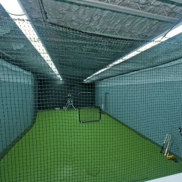 Homemade Batting Cage In Garage Homemade Ftempo