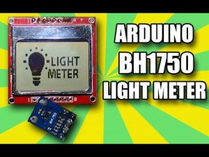 Arduino Project: BH1750 Light meter illuminace sensor DIY using Nokia 5110 tutorial project