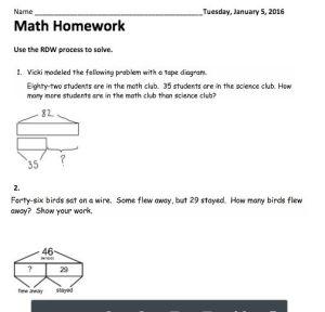 G2M4L16 Alternative Homework with additional tape diagram scaffolds | Grade 2 Eureka Math