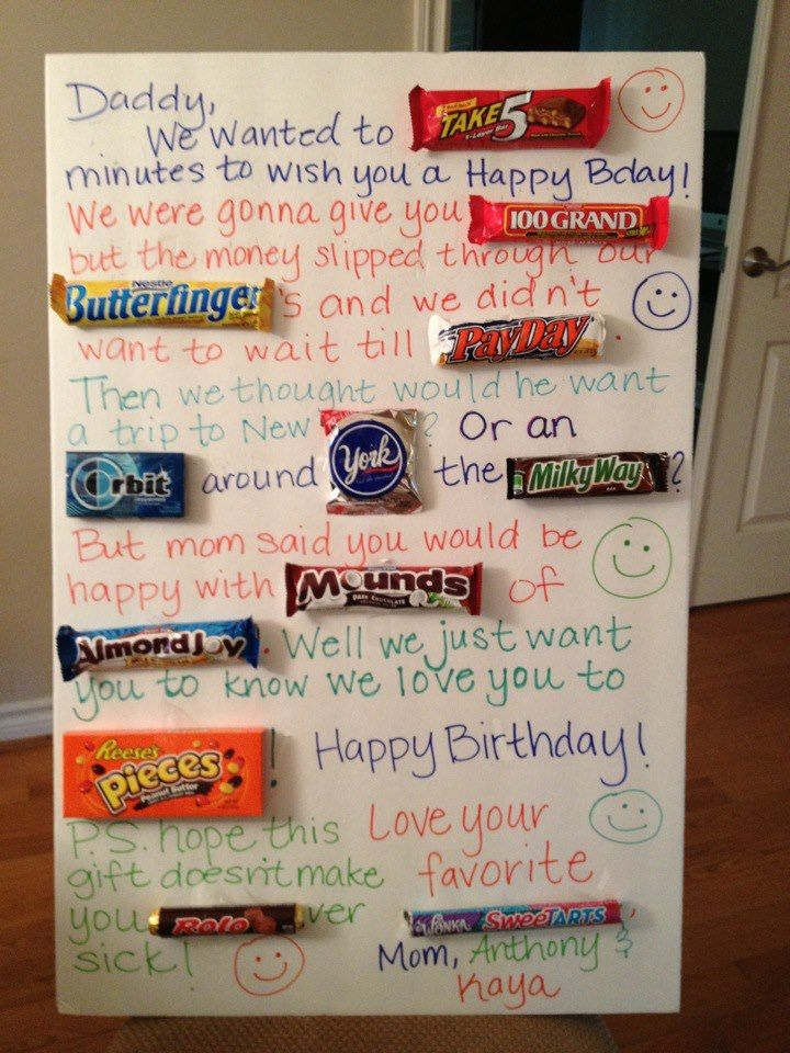 Candy Birthday Card for Daddy. Gifts??? Pinterest
