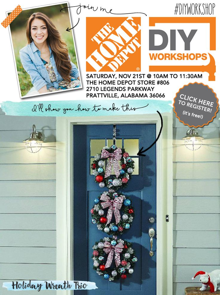 Home Depot DIY Holiday Wreath Trio Home