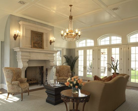 Very Nice, Formal Living Room With Wing Chairs And Camel