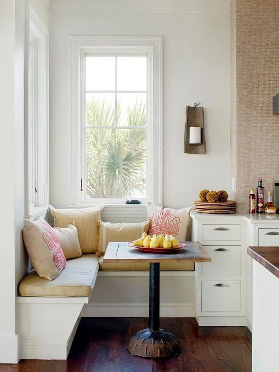 cozy kitchen breakfast nook. Also, my office space. Ha!