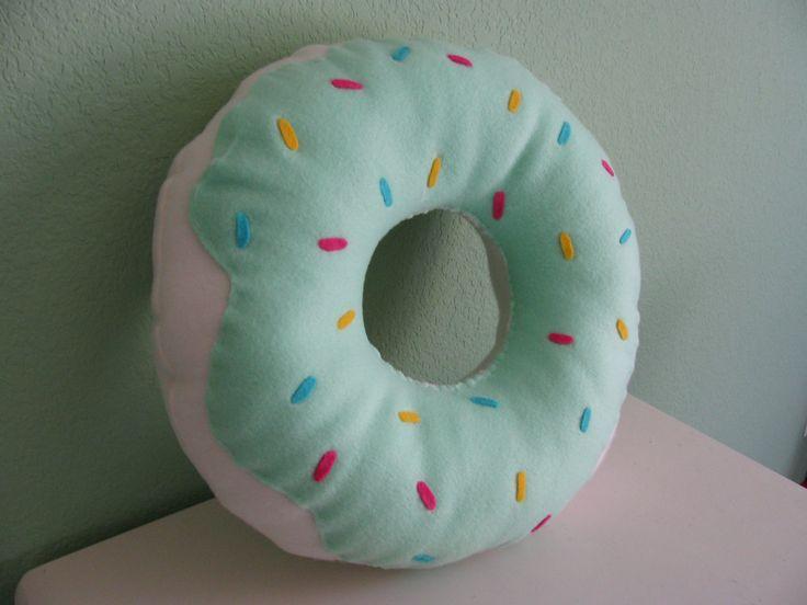Large Donut Pillow. $20.00, via Ets