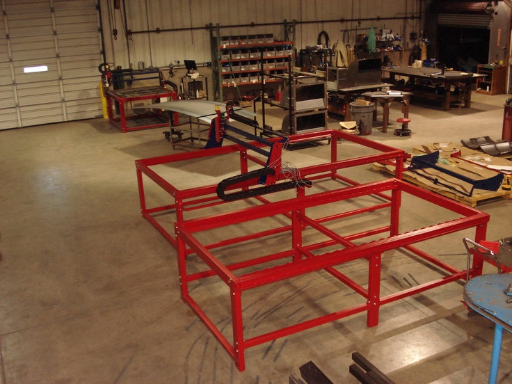 4x4, 4x8, and 5x10 CNC Plasma and Router Tables in various