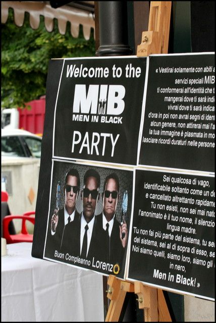 13 Best Images About Men In Black Party On Pinterest