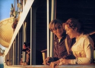 Image result for titanic the movie kate and leo spitting