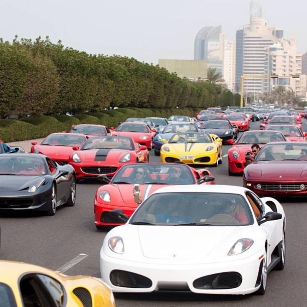 Just your average traffic jam in Dubai Luxury Car