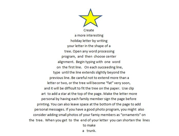Creative Holiday Letter Idea 2 Treeshaped letter
