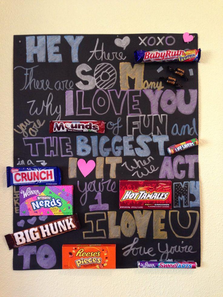 Candy card for boyfriends birthday )) CraftyCrafty