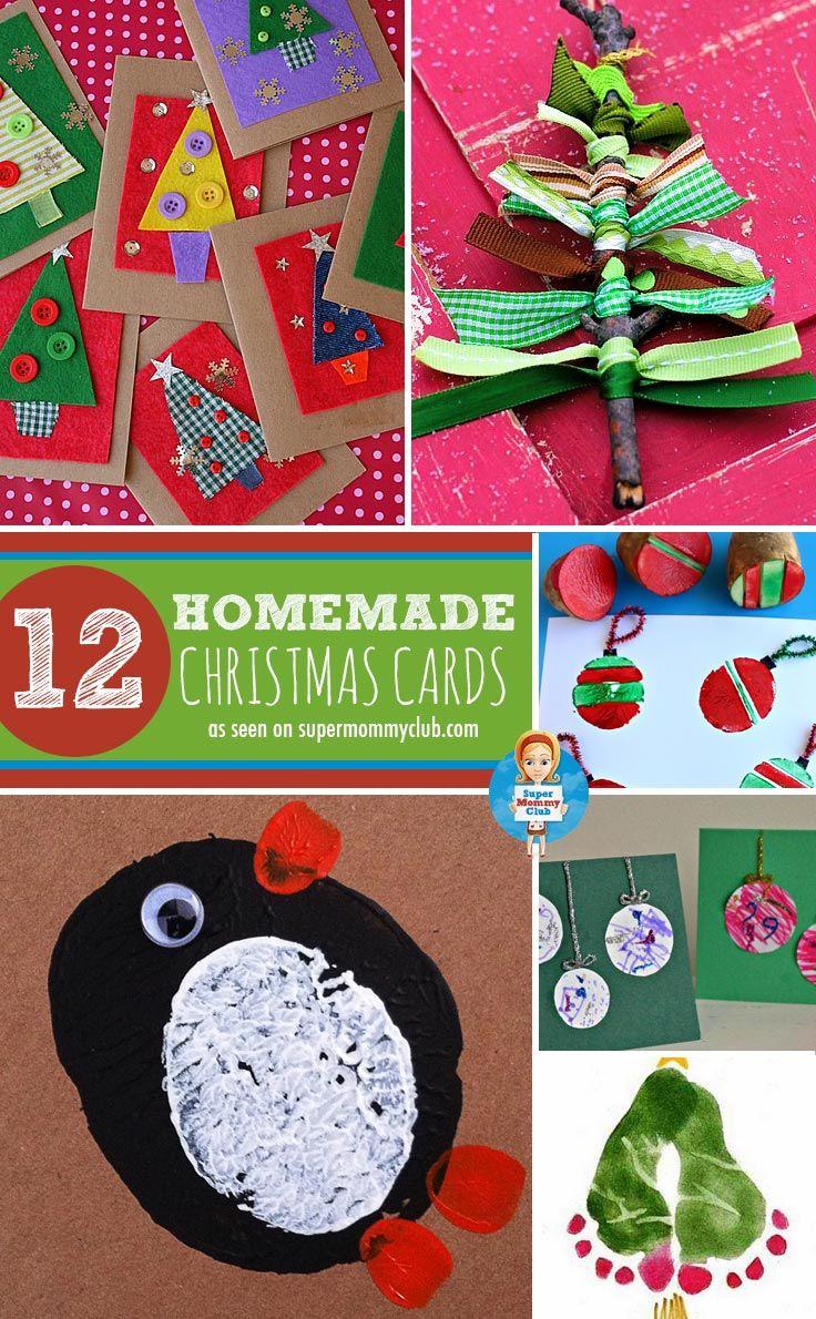 Adorable Homemade Christmas Cards for Kids to Make For