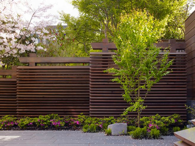 Staggered Horizontal Fence Perfect For Privacy On