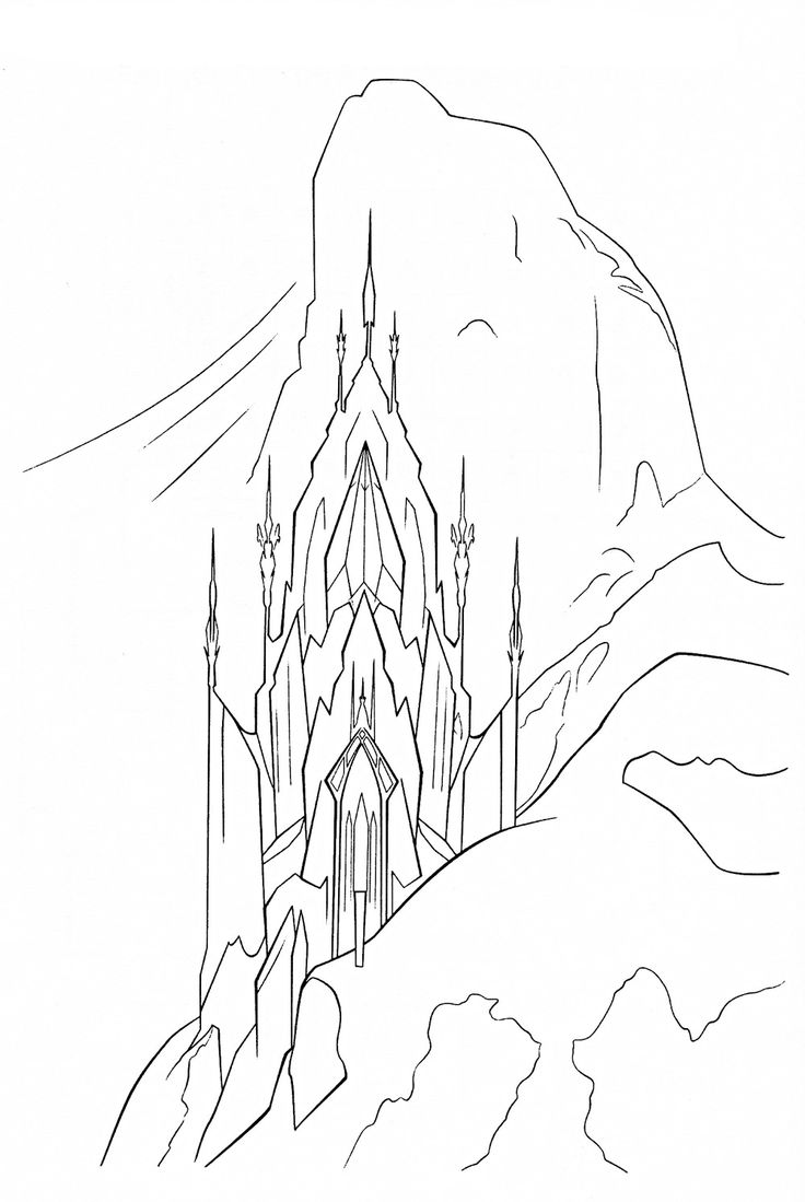 page frozen palace elsafrozen colors coloring pages elsa ice ice
