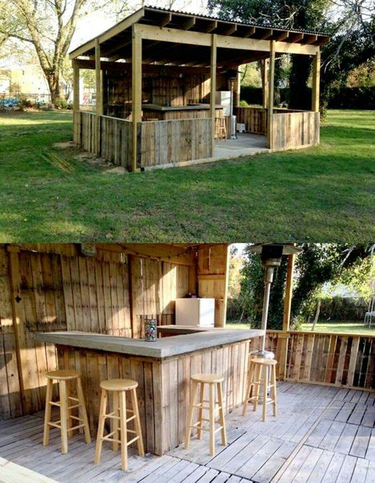 25 Best Ideas About Outdoor Pallet Bar On Pinterest
