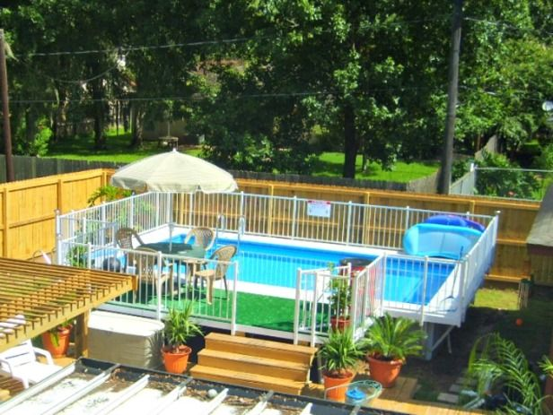 Small Yard Above Ground Pool Designs Kayak Swimming