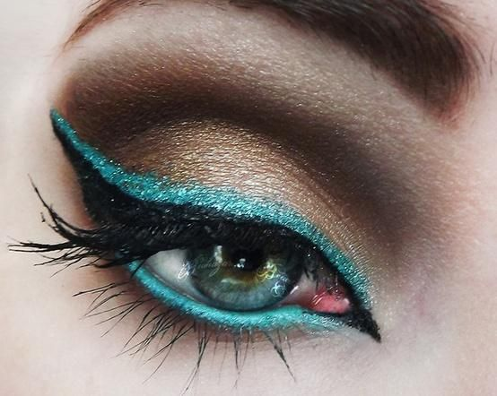 Wedding Makeup ~ Bronze  turquoise