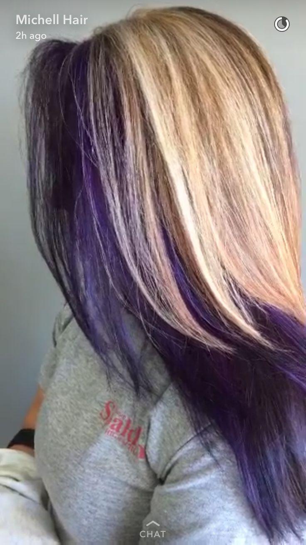 Blond And Purple Hair Hair Pinterest Purple Hair