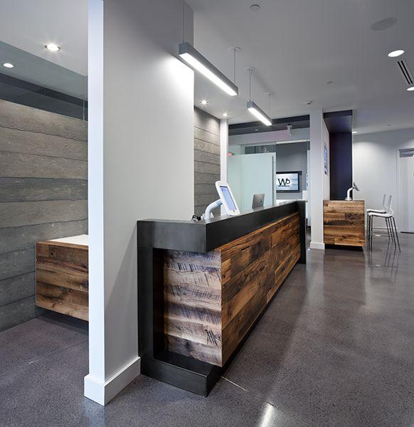 1000 Images About Unique Wood Reception Desks On