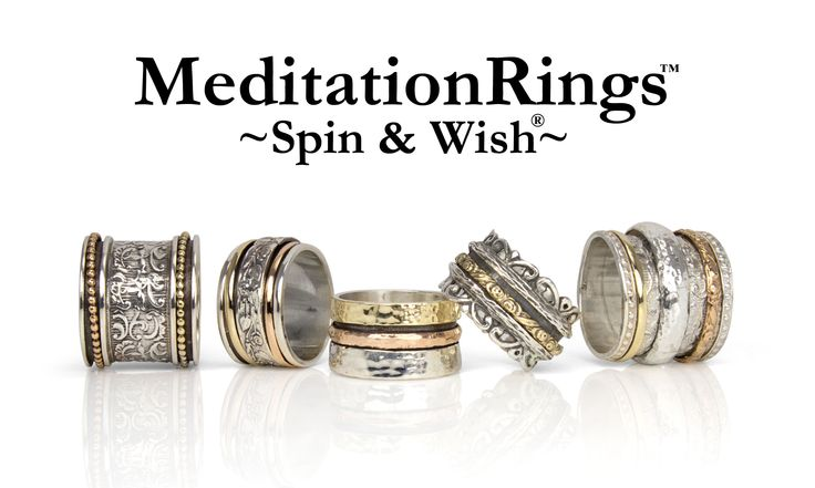 Gold Amp Silver Meditation Ring Collection Spin Amp Wish