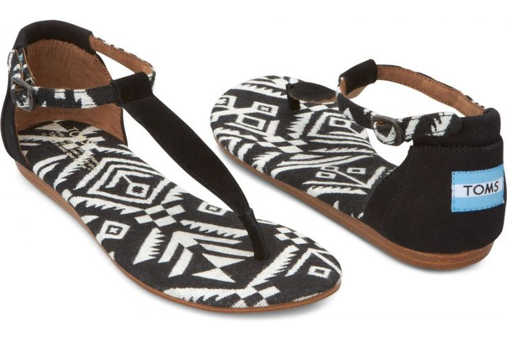 TOMS Black Woven Women's Playa Sandals