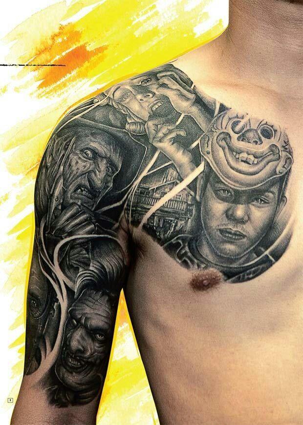 Horror half sleeve Tattoos Pinterest Half sleeves