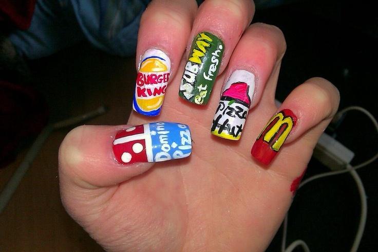 Dominosburgerkingsubway pizzahutmcdonalds nails