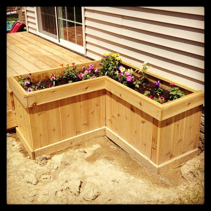 Deck planter box Outdoors and gardening Pinterest