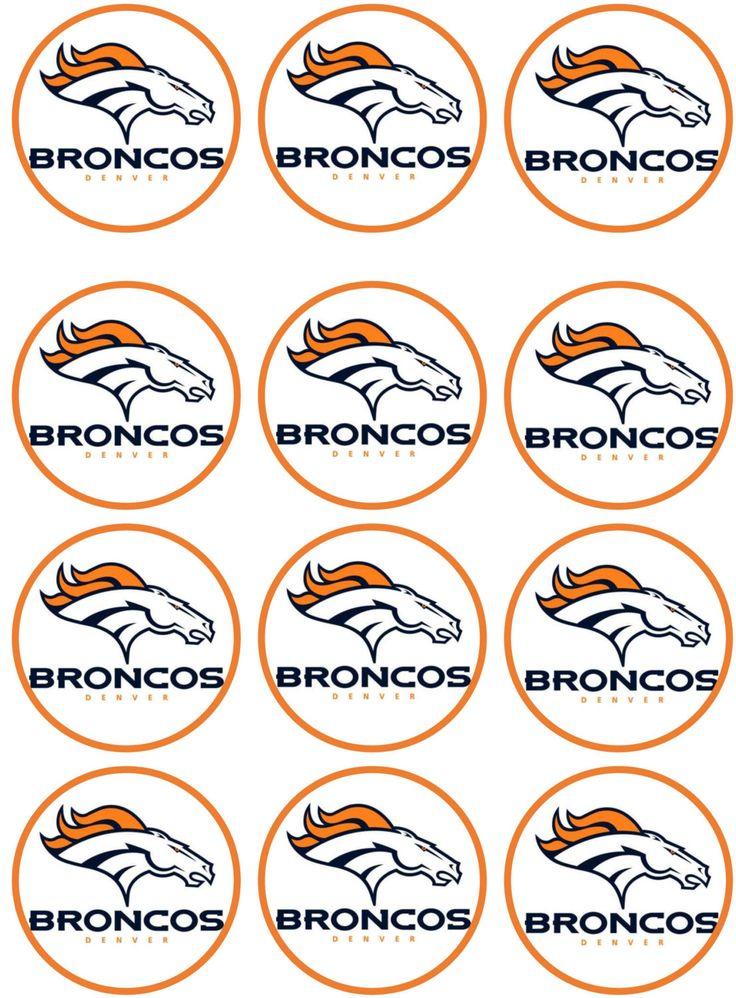 Denver Broncos Edible Image Cupcake Toppers Denver