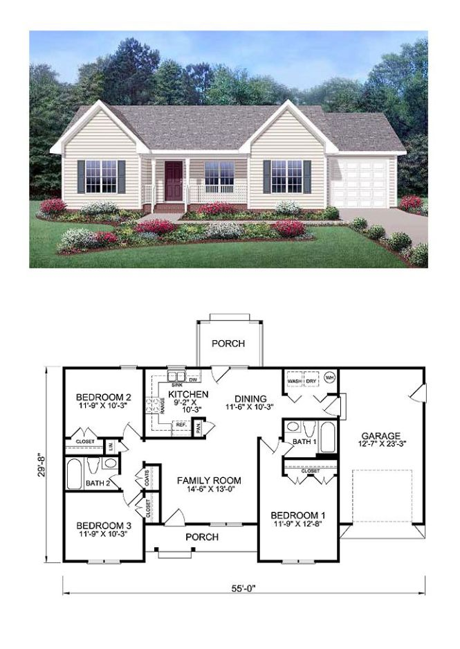Exclusive Cool House Plan Id Chp 39172 Total Living Area 1150 Sq