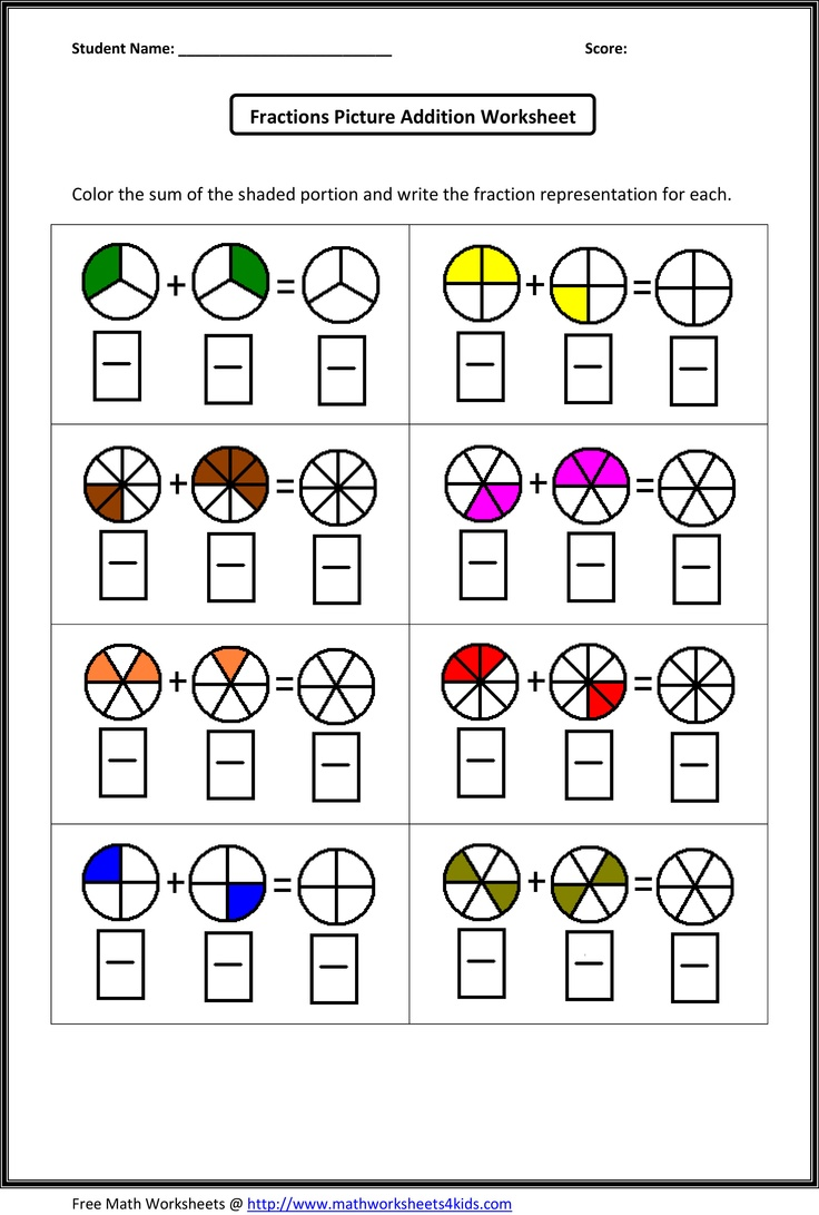 Fraction Addition Worksheets What's New Pinterest