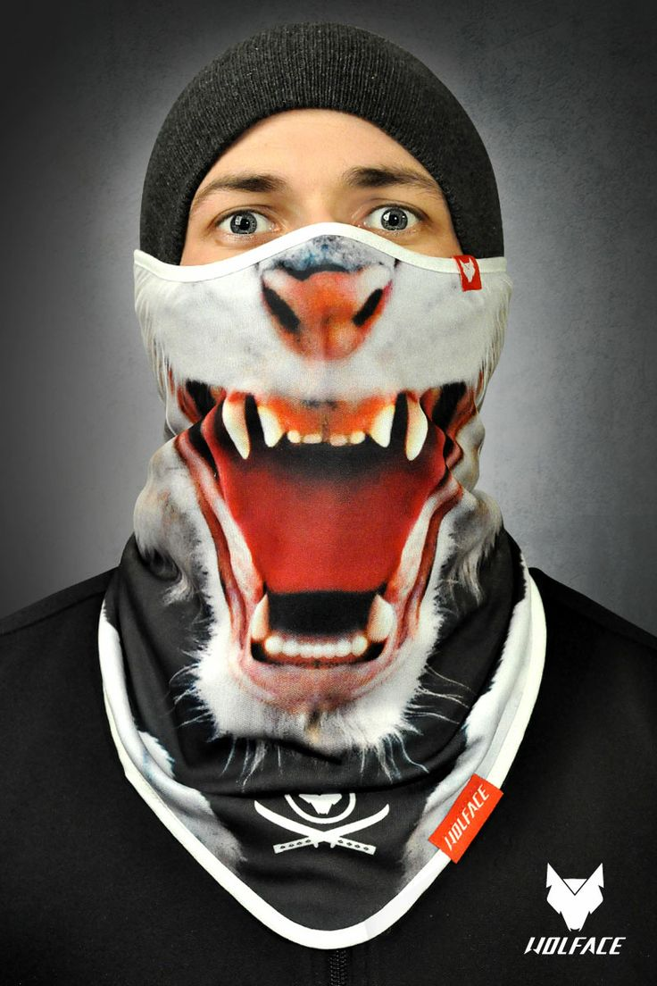 Bandana CRAZY CAT Wolface for Riders 100 polyester and