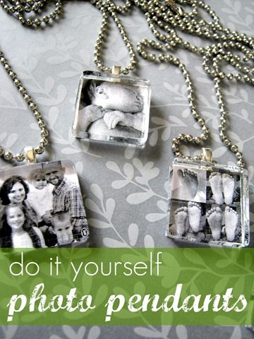 I love this! How easy – do it yourself photo pendants!