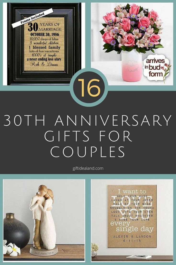 30 Good 30th Wedding Anniversary Gift Ideas For Him & Her
