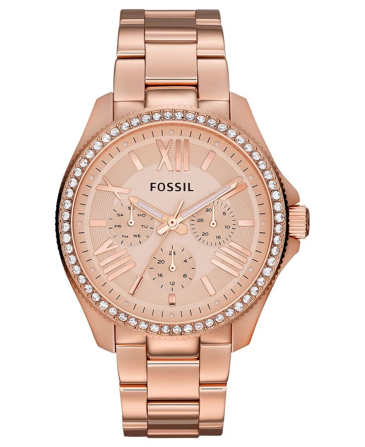 Fossil Watch, Women's Cecile Rose Gold-Tone Stainless Steel Bracelet 40mm AM4483 – All Fossil Watches – Jewelry & Watches – Macy's