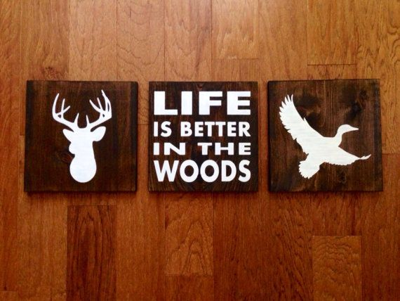 Duck Silhouette Wood Sign C