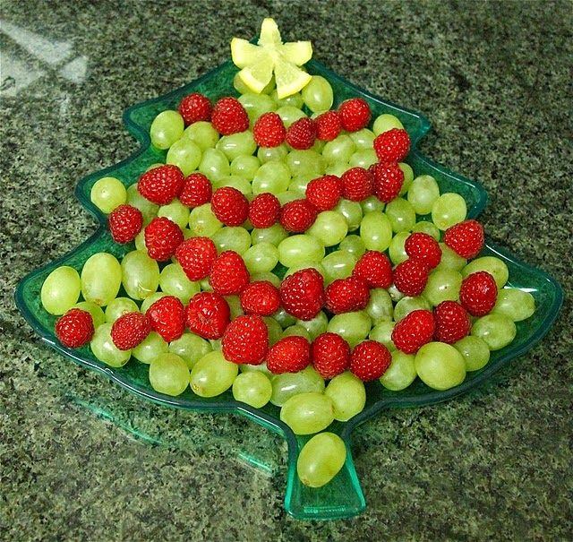 Christmas Tree Fruit Tray Christmas Party Appetizer