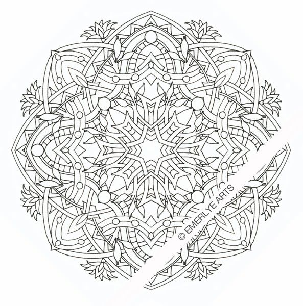 Egyptian Mandala An Adult Coloring Page My Adult