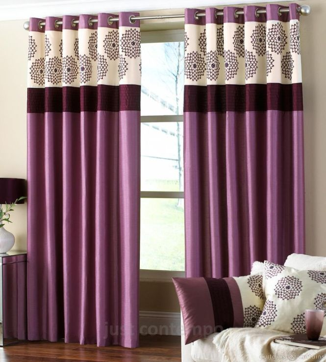 Clarimont Plum Purple Designer Lined Curtain Curtains Ds Uk