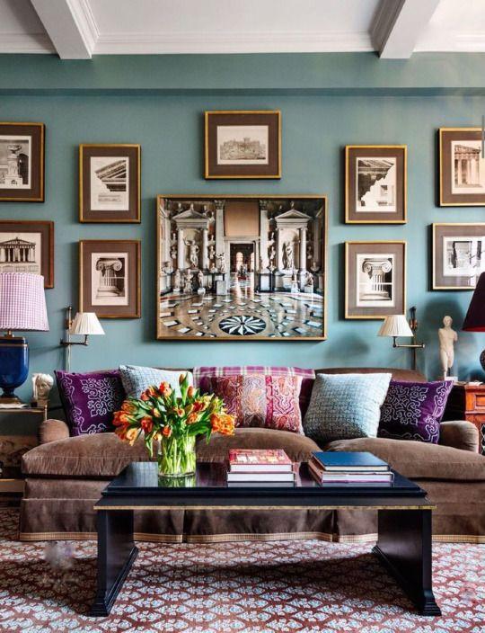 Alexa Hampton design  ....  wall color: